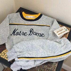 NWT Notre Dame Infant Crew neck sweatshirt/pants